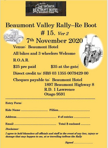 Beaumont Valley Rally Re-Boot