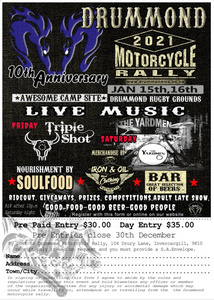 Drummond Motorcycle Rally 2021