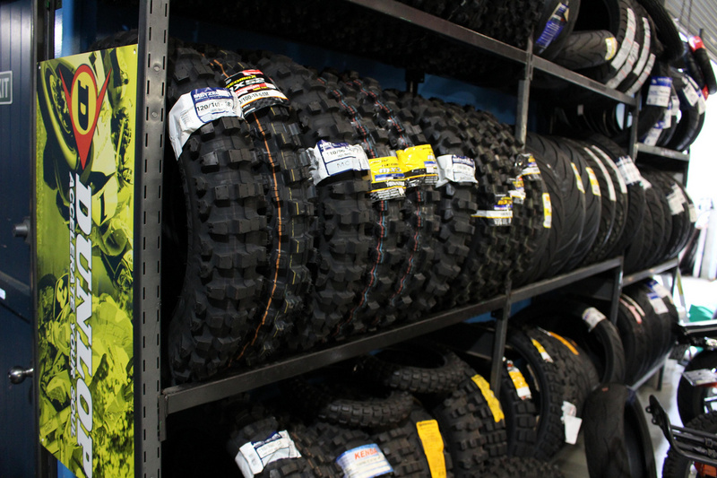 The motorbike tyre range at MotoXtreme