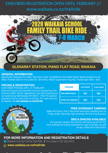 WAIKAIA SCHOOL FAMILY TRAIL BIKE RIDE 2020